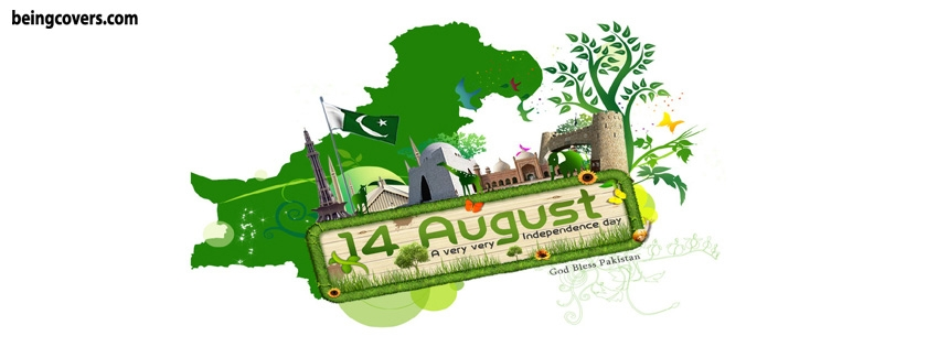14 august Independence Day Facebook Timeline Cover