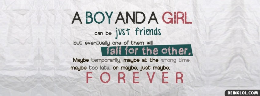 A Boy And A Girl Facebook Cover