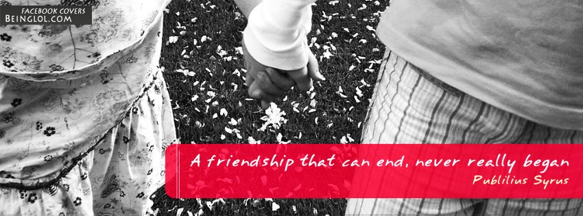 A Friendship That Can End Facebook Cover