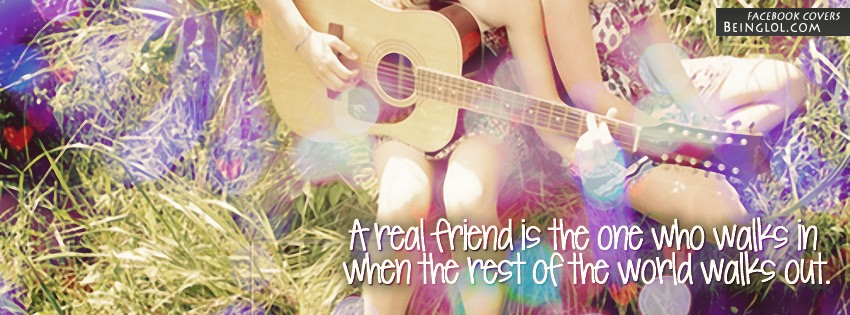 A Real Friend Facebook Cover