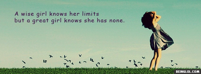A Wise Girl.. Facebook Cover