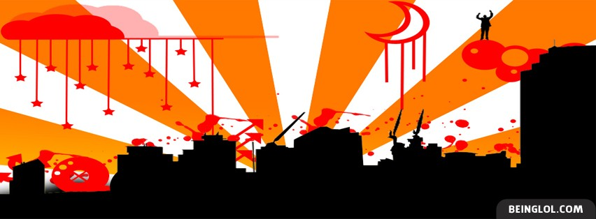 Abstract City View Facebook Cover
