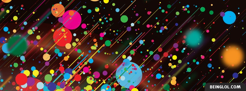 Abstract Color Streaks Facebook Cover