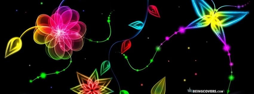 Abstract Flowers Facebook Cover