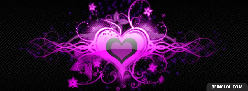 Abstract Pink Heart Facebook Cover