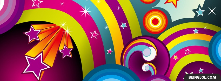Abstract Rainbow Effect Facebook Cover