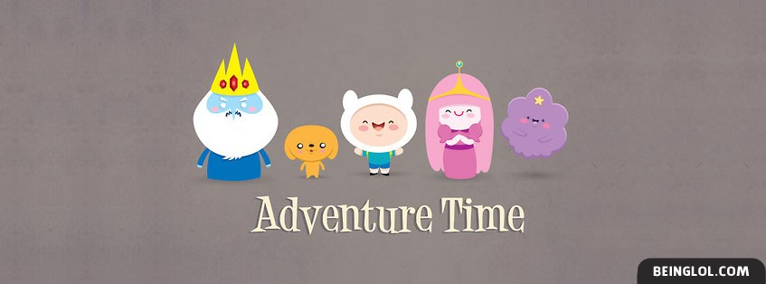 Adventure Time Characters 3 Facebook Cover