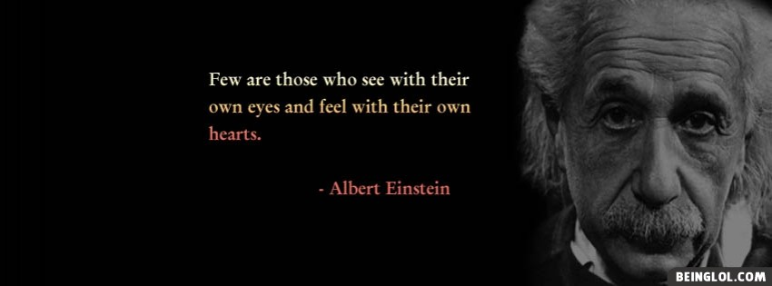 Albert Einstein Facebook Cover
