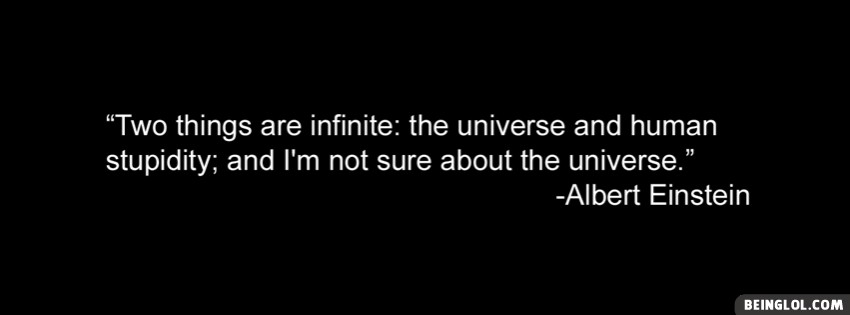 Albert Einstein Quote Facebook Cover