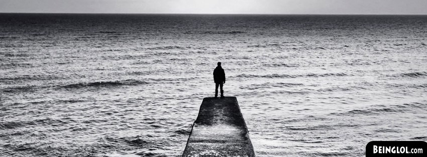 Alone On A Dock Facebook Cover