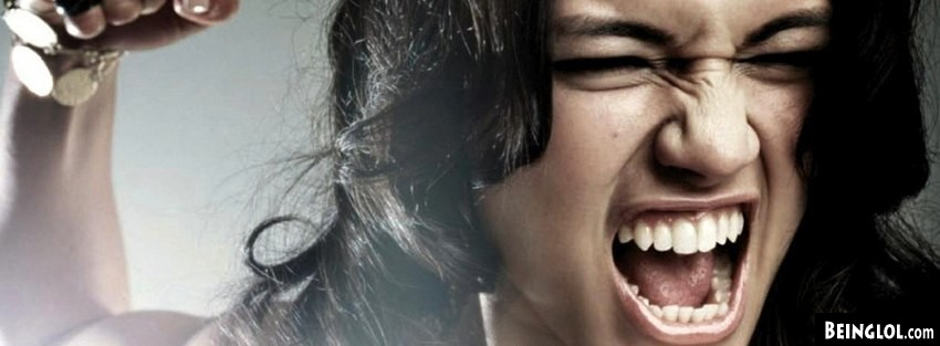 Angry Girl  Facebook Cover