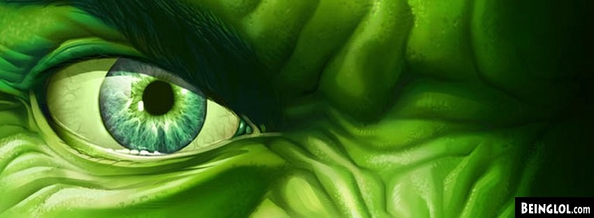 Angry Hulk Eye  Facebook Cover
