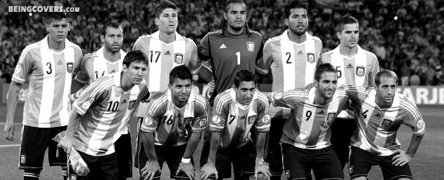 Argentina National Team 2014 Black And White Facebook Cover