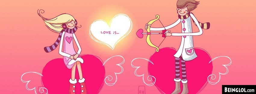 Arrow Love Cartoon Facebook Cover