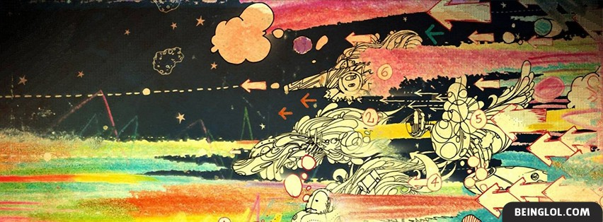 Artistic Colorful Drawings Facebook Cover