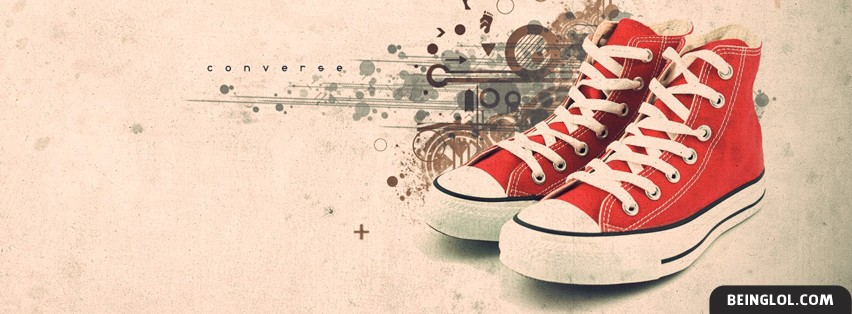 Artistic Red Converse Facebook Cover