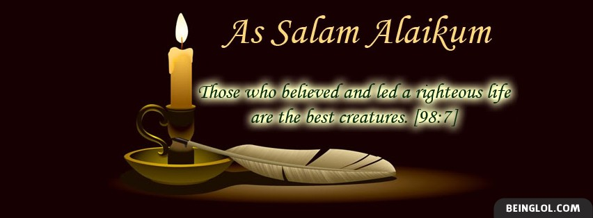 As Salam Alaikum Islam 2 Facebook Cover