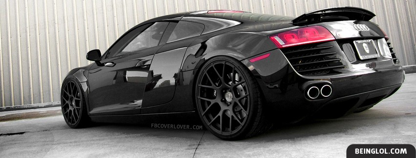 Audi R8 Black Facebook Cover