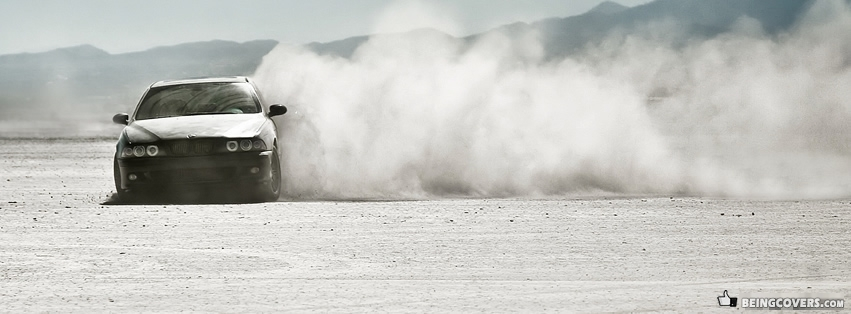 BMW M5 Desert Drifting Facebook Cover