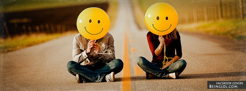 Balloon Smilie Faces Facebook Cover
