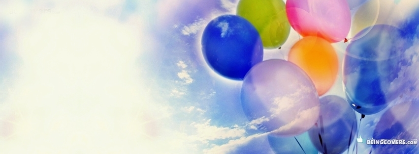 Balloons In The Clouds Facebook Cover