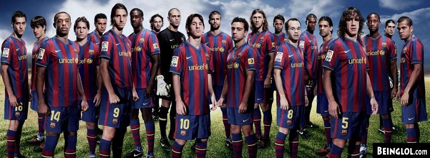 Barcelona Team Facebook Cover