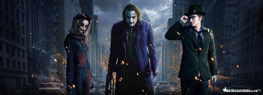 Batman Gotham City Villains Facebook Cover