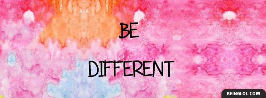 Be Different Facebook Cover