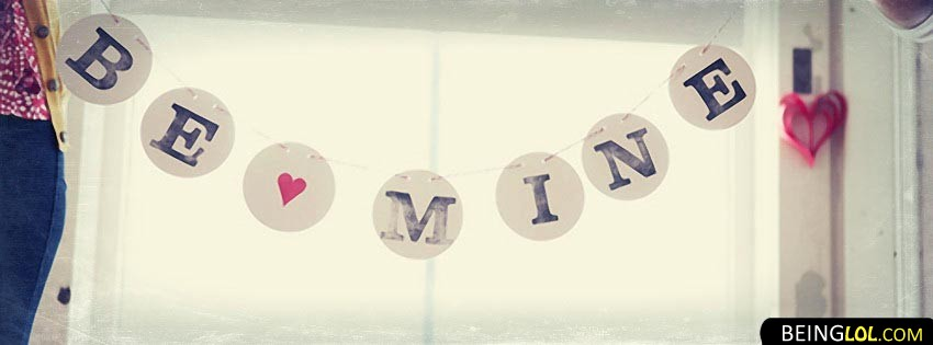 Be Mine Love Facebook Cover