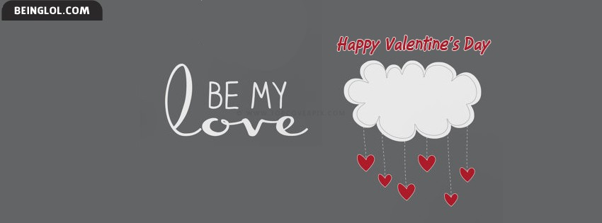 Be My Love Valentines Day Facebook Cover