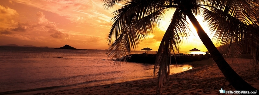 Beautiful Beach Sunset Facebook Cover
