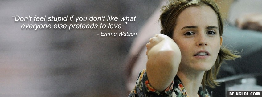 Beautiful Emma Watson Facebook Cover