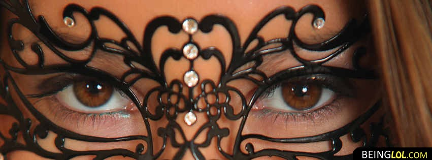 Beautiful Eyes Mask Facebook Cover