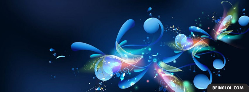 Beautiful Flowery Wave Facebook Cover