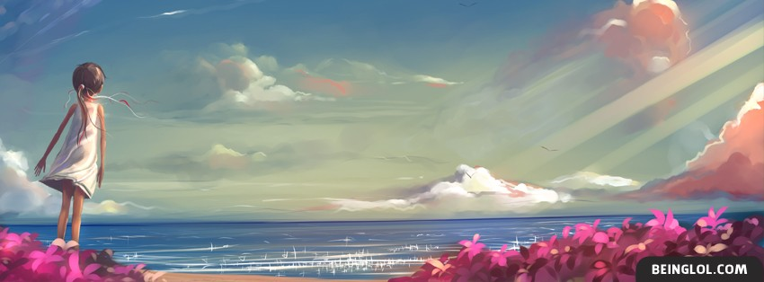 Beautiful Ocean Painting Facebook Cover