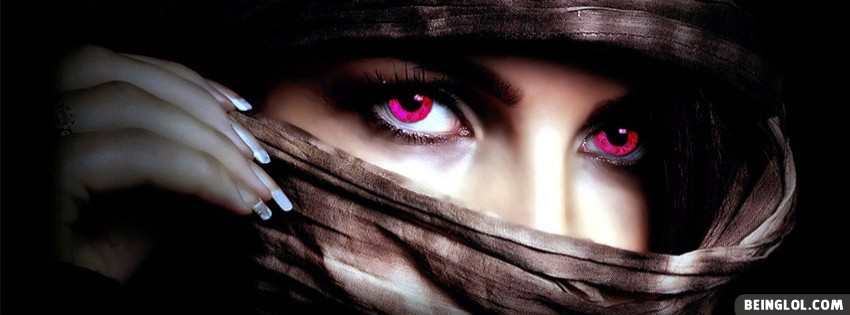 Beautiful Pink Eyes Facebook Cover