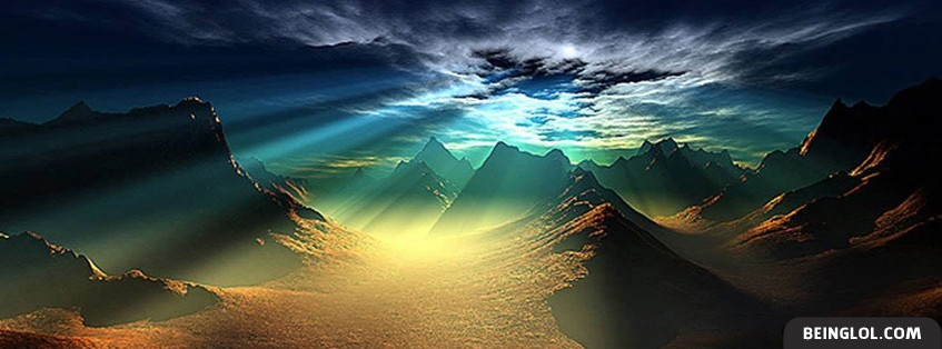 Beautiful Sun In The Mountains Facebook Cover
