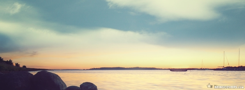 Beautiful Sunrise On The Beach. Facebook Cover
