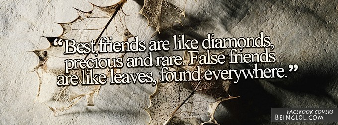 Best Friends Are Like Diamonds Facebook Cover