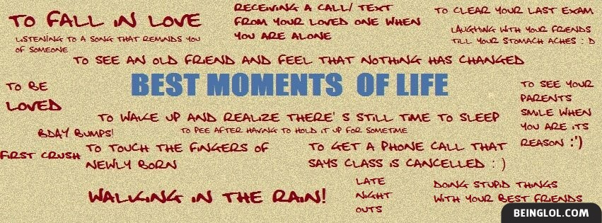 Best Moments Facebook Cover
