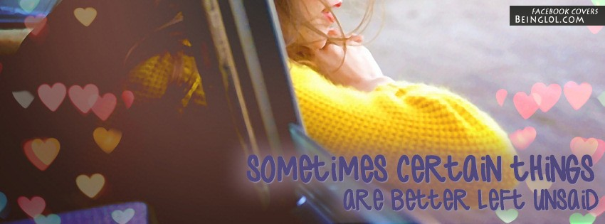 Better Left Unsaid Facebook Cover