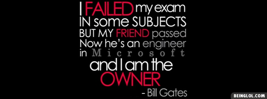 Bil Gates Quote Facebook Cover