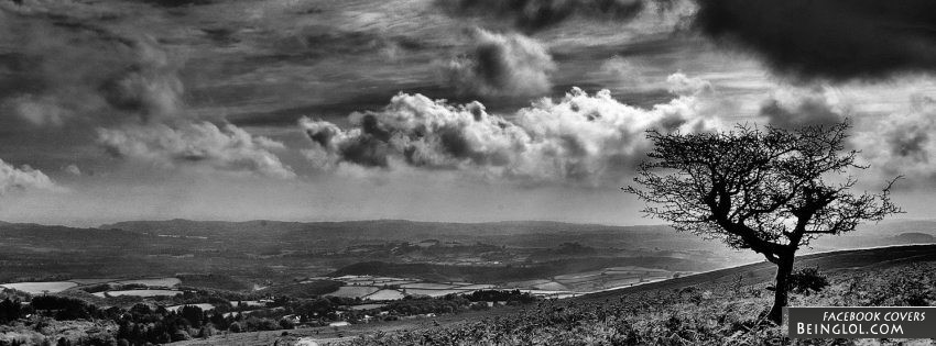 Black And White Landscape Facebook Cover