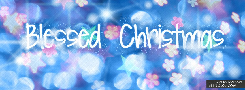 Blessed Christmas Facebook Cover