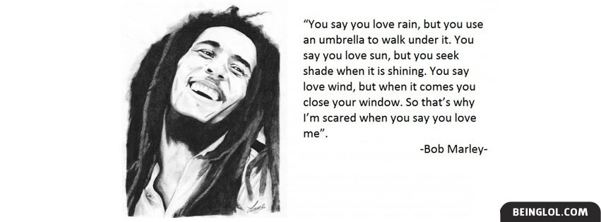 Bob Marley Quote Cover