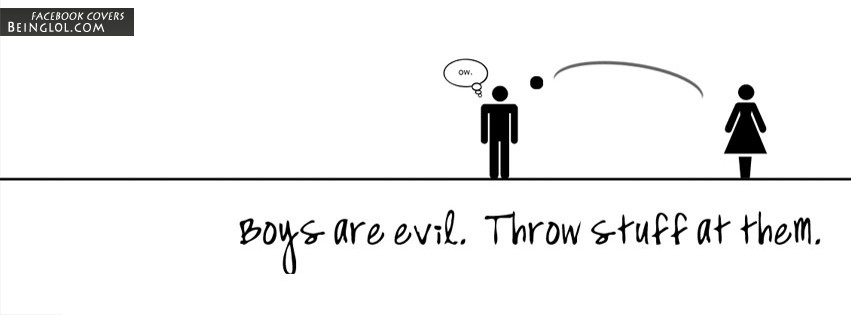 Boys Are Evil Facebook Cover