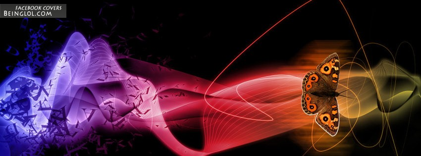 Butterfly Abstract Facebook Cover