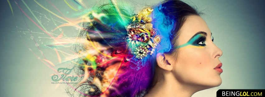 COLORFUL Make Up GIRL Facebook Cover