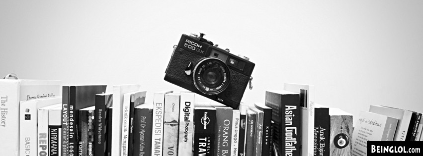 Camera And Books Facebook Cover