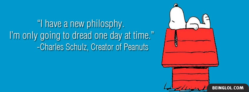 Charles Schulz Quote Facebook Cover